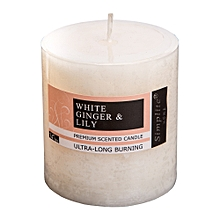 Scented Pillar Candle - 7.5cm - White