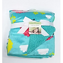 Super Soft Baby Receiving Blanket / Shawl  - Teal .