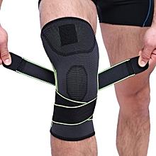 Men & Women Sports Knee Wraps Knee Straps Compression Elastic Fitness Support  XL