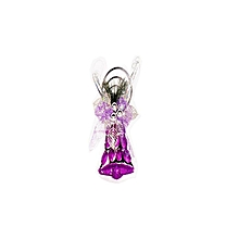 Christmas Hanging Bell  With Rings On Top - 20cm-Silver & Purple