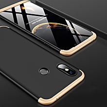 GKK Three Stage Splicing Full Coverage PC Case for Xiaomi Mi 8 SE (Black+Gold)