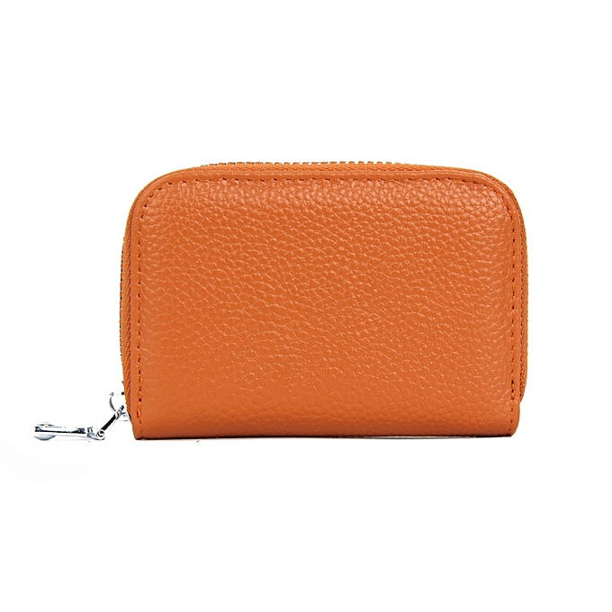 b70d6244d593 Leather Slim Card Holder Wallets Mens Women Mini Thin Wallet Purse Small  Short Zipper Vallet Walet portafoglio (black)