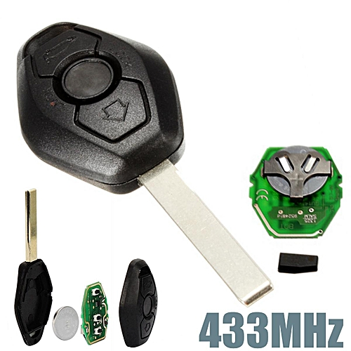 4pcs 433MHz Keyless Entry Remote Key Fob Transmitter Clicker Uncut Blade  For BMW