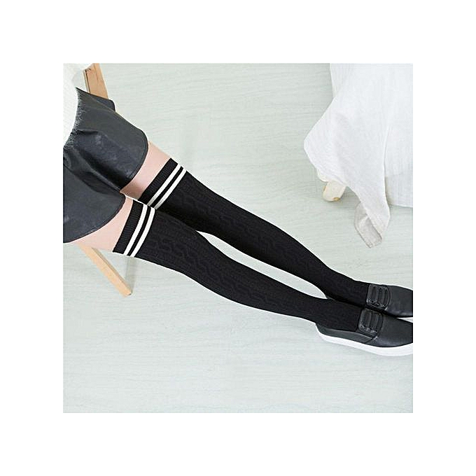 f9f667d7a Fashion Cotton Sexy Striped Over Knee Socks Long Stockings For S ...