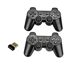 HonTai 2pcs 2.4Ghz Wireless Game Controller Gamepad with Dual Vibration Dual Joysticks USB Receiver For PC