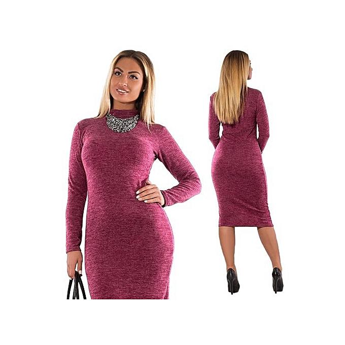 5XL 6XL Large Size 2017 Autumn Winter Women Dresses Big Size Casual Long  Sleeve Dress Plus c3ec196d2006