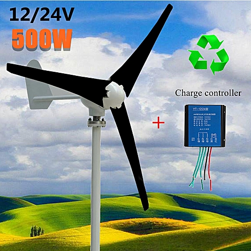 400W Wind Turbine Generator DC 12V 3 Blade with windmill Charge Controller