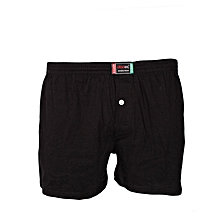 Black Cotton Boxers