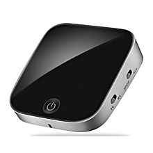 Mini Fiber Coaxial CSR V4.1 APTX Wireless Bluetooth Transmitter Audio Adapter black & silver