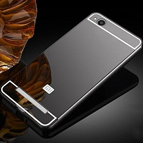 wholesale dealer 0429e 706bb Luxury Plating Mirror Case Aluminum Metal Bumper + Acrylic Hard Back Cover  For Xiaomi Redmi 4A 672515 (As Main Picture)