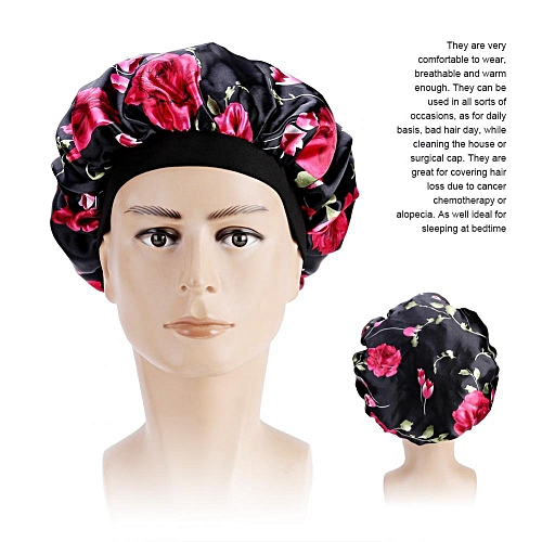 1c9a4acaa44f3 Generic Womens Hair Loss Head Scarf Cancer Hat Chemo Cap Turban Head Wrap  Cover Satin Sleeping Cap