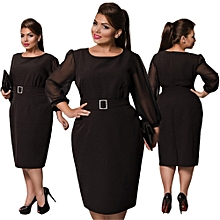 Large Size Dresses For OL Ladies Business Office Dresses Wear To Work Elegant Pice Hip Bodycon Formal Dresses