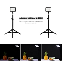 Andoer LED Video Light Kit include 2pcs W160 5600K Mono-Color Dimmable LED Video Light+6pcs Color Filters+2pcs Max. 72cm Light Stand+2pcs 7.4V 2200mAh Matched Battery & Battery Charger for ILDC DSLR Cameras