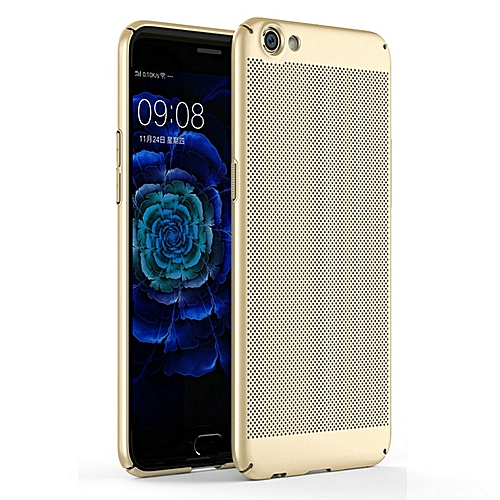 the latest 40935 cd970 Fashion Breathable Radiation Case For OPPO F1S Case 360 Protection Fashion  Hollow Grid Matte Hard Plastic Housing Slim Cover For OPPO F1s Phone Shell  ...