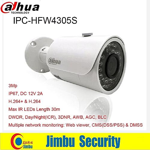 DAHUA 3MP IP camera IPC-HFW4305S Bullet IR 30M 1080P Waterproof outdoor  full HD CCTV security camera (3 6mm)