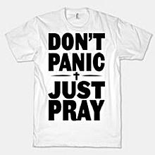 White Don't Panic T-shirt
