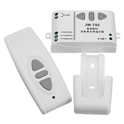 Digital projection screen controller electrical curtain motor wireless  remote control switch receiver has a manual function