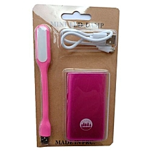 5200mAh Power Bank-Pink Get One Free USB LED Lamp