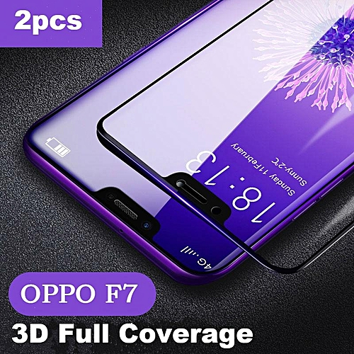 OPPO F7 Tempered Glass 3D Full Screen Protector Film For Oppo F7 Curved  Screen Cover Glass black