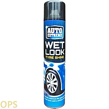 WET LOOK CAR TYRE SHINE 370ML NEW LARGER CAN