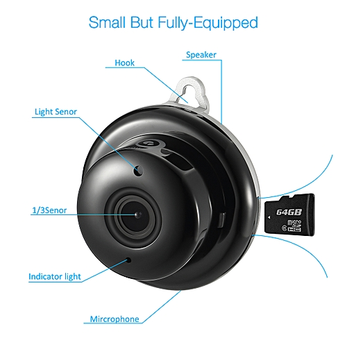 Digoo DG-M1Q Wireless WIFI 960P Mini Smart IP Camera Home Security Night  Vision Starry Grey