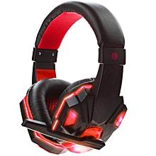 Gaming Headset 3.5mm Earphone Gamer Stereo Gaming Headphone with Microphone LED