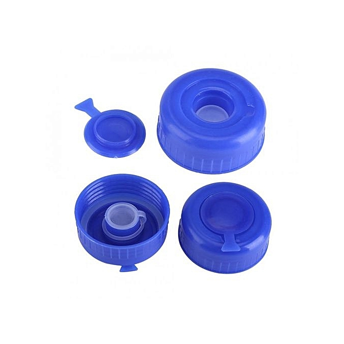 4ee212c26ca ... 5Pcs Blue Gallon Drinking Water Bottle Screw On Cap Replacement Anti  Splash Lids ...