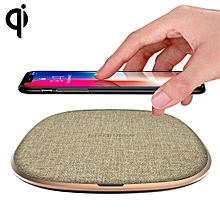 W1  Simple Round Metal 10W Max Qi Wireless Charger Pad, For iPhone, Galaxy, Huawei, Xiaomi, LG, HTC and Other Smart Phones(Gold)