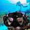 UJ Underwater Camera Plain Diving Mask Scuba Snorkel Swimming Goggles For GoPro