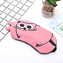 Cute Eye Mask Soft Padded Sleep Travel Shade Cover Rest Relax Sleeping Mask Pink
