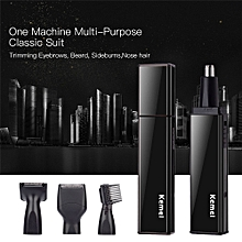 4 In 1 USB Charging Trimmer Set Nose Ear Eyebrow Sideburns Beard Trimmer