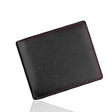 Wallet ID Credit Card Holder Purse Pockets Men Bifold Business Leather