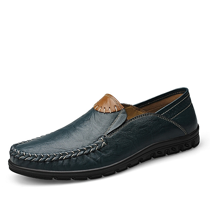 Buy Tauntte Genuine Leather Moccasins Men Shoes Blue Best Price