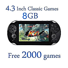 Video Game Console 8GB Free 2000 Games 4.3 Inch MP5 - Black