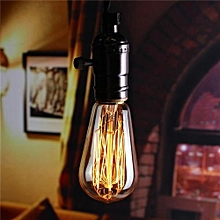 E27 60W ST58 Industrial Retro Vintage Filament Edison Light Bulb Lamp 220V