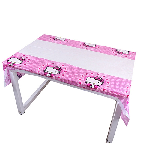 e044b703a Generic Hello Kitty theme party set children birthday decorations kids party  supplies Disposable tableware banner set baby shower girl(A0047 1pc)