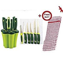 6 Pcs Knife set + FREE Gift Hand Towel