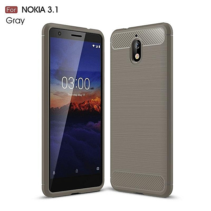 save off 9bd11 89dea For Nokia 3.1 Case Carbon Fiber Mobile Covers Soft Celular ZGAR Men Women  Phone Bags Cases For Nokia 3.1 5.2 inch Silicon