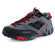 Spring Autumn Men Outdoor Hiking Mountain Climbing Shoes Breathable Mesh men Trekking Shoes Anti-skid Sports Shoes - Red