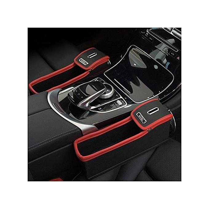 VariationMocha Brown Pilot1PC Car Seat Gap Pocket Organizer Side