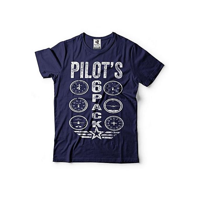 370d8353 Fashion Pilot's 6 Pack T-Shirt Funny Pilot Tee Shirt Gift For Pilot ...