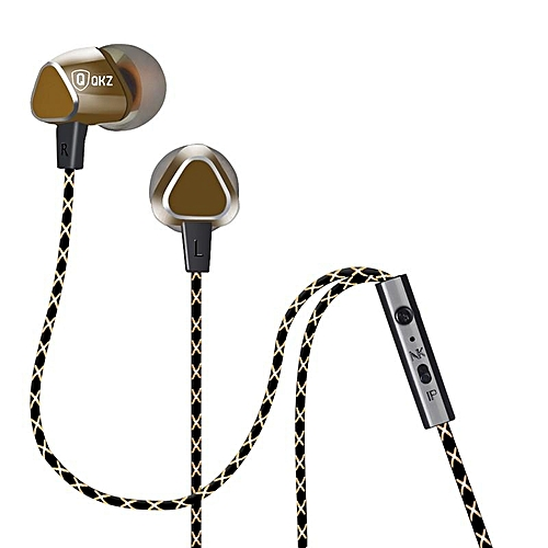 QKZ X36 3.5mm In-ear Headphone Super Bass Music Earphone With Mic For Smartphone PC PRI-P