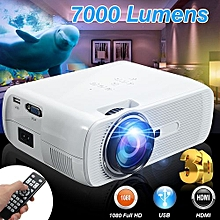 4K HD 1080P LED Mini Projector 3D Multimedia Home Theater HDMI USB 7000 Lumens