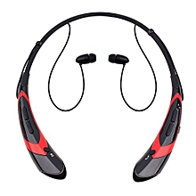 Bluetooth Headphones Bluetooth HeadsetsWireless Hand-free Neckband Earbuds For Sport/running/exercise Lightweight Sweat-proof Noise Cancelling Earbud For Cell Phones (Black Red)