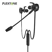 Plextone G30 In-ear Gaming Earphones Stereo Computer Game Headphones With Mic PC Gamer Headset for Mobile Phone PS4 New Xbox One(Black Red Green)