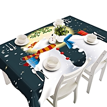 Merry Christmas Rectangular Printed Fabric Party Picnic Tablecloth 50*130cm B-multicolor
