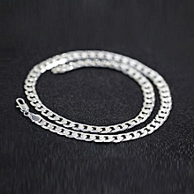 New Width 6 Mm 925 Silver Silver Necklace For Men  Chain Necklace Fashion Men Jewelry
