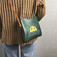 bluerdream-Women Fashion Casual Print Letter Handbag Shoulder Bag  Tote Messenger Bag -Army Green