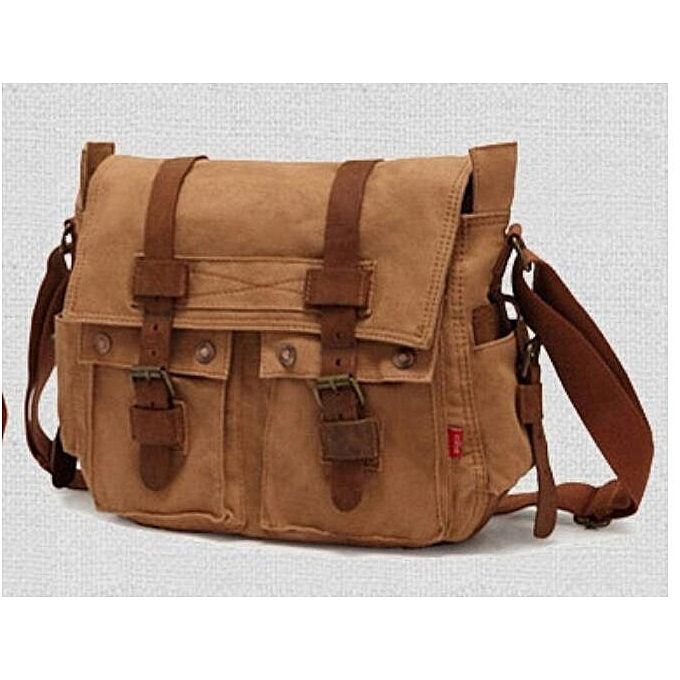 513ea035148f Generic Canvas bag Retro messenger bag Leisure men shoulder Bags ...