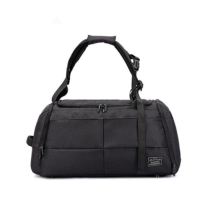 fc6eb397705 Mens Travel Bag Duffle Bag Large Capacity Gym Bag with Separate Shoes  Compartment  black